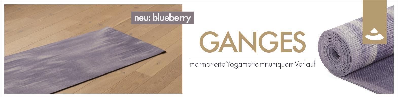 Banner zu Yogamatte GANGES mit neuer Farbe (blueberry)