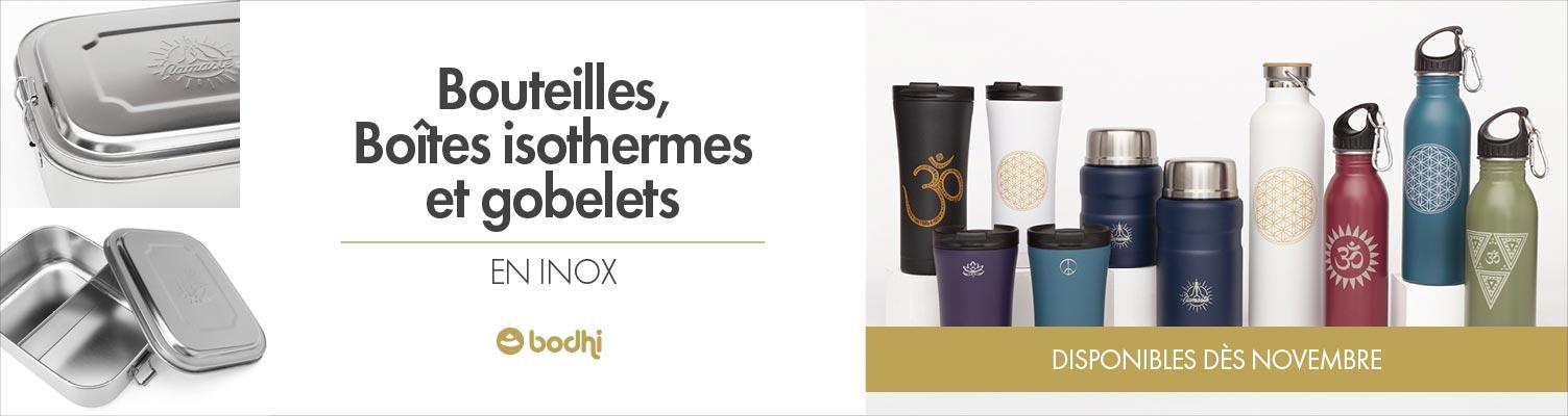 bodhi Bouteilles Boites Isothermes et gobelets en inox