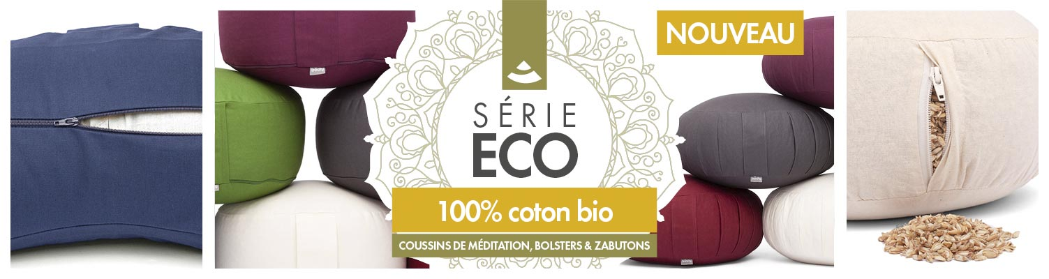 Bodhi Eco Collection | coussins & bolster de yoga
