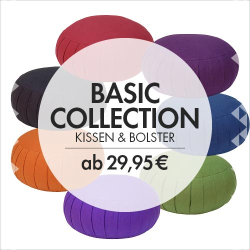 Basic Collection: Meditationskissen, Zabutons und Bolster