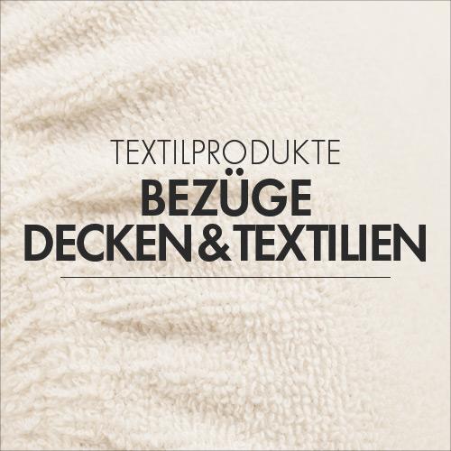 Bezüge und Textilien für die Massage- und Physiopraxis