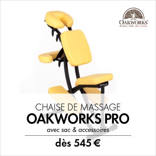 Oakworks Pro Paket - Chaise de massage