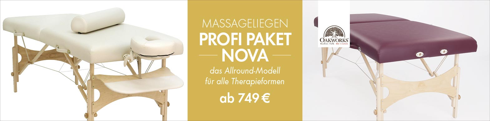 Profi Paket Nova - Allround Massageliege
