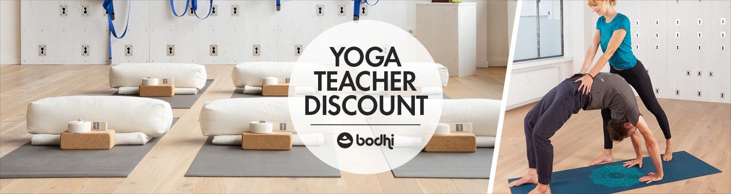 Yoga teacher discount from bodynova