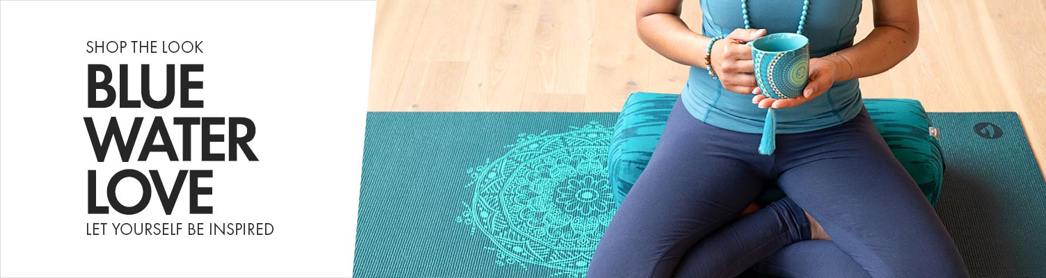 Yoga, lifestyle & meditation inspirations in the colour blue