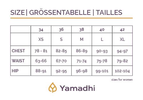 Yamadhi Groessentabelle für Damen