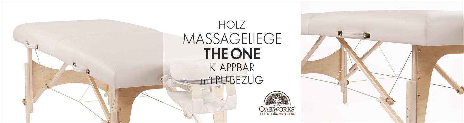 The One von Oakworks | Klappbare Massageliege aus Holz