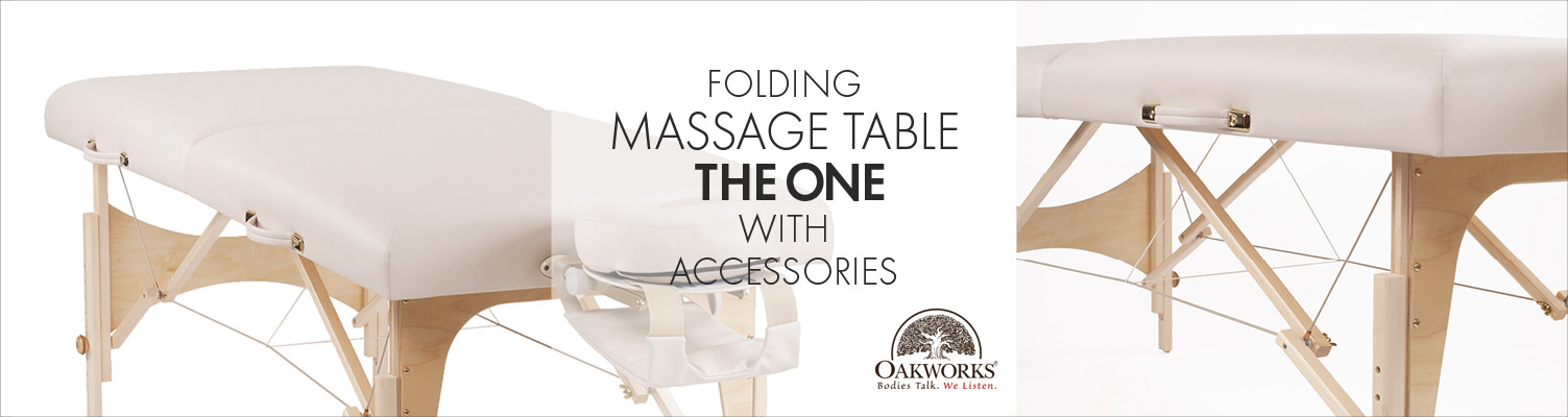 The One by Oakworks | Folding Massagetable