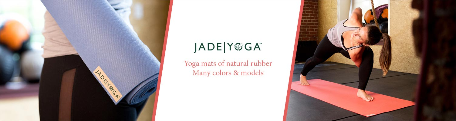 Yogamats of natural rubber by JADE Yoga