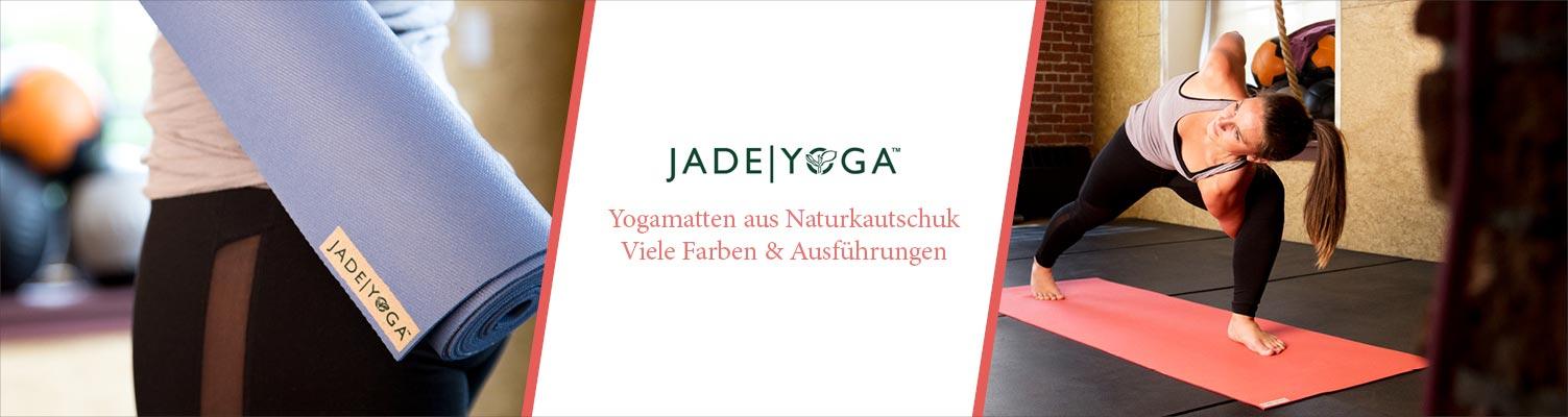 Jade Yogamatten aus Naturkautschuk