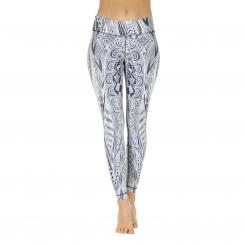 Niyama Leggings Zentangle White on Black