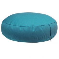 Coussin de méditation RONDO EXTRA PLAT turquoise (coton sergé)