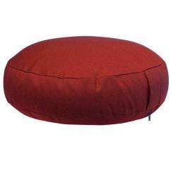 Coussin de méditation RONDO EXTRA PLAT bordeaux (coton sergé)
