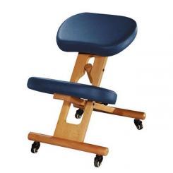 Tabouret repose-genoux ergonomique bleu