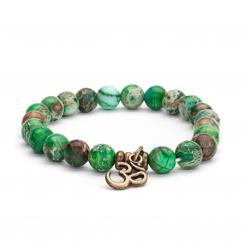 Mala Armband mit grüner Imperial, Modeschmuck