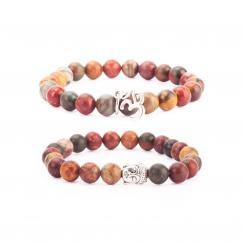 Mala bracelets, brown jasper (fashion jewelry)