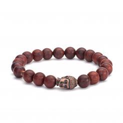 Bracelet Mala, perles de bois