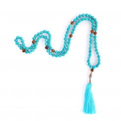 Mala turquoise and tiger eye, 108 beads