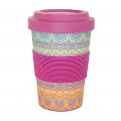 bodhi YogiCup 2 Go, bamboo cup, Indian Ornaments