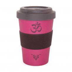 Bodhi YogiCup 2 Go, gobelet en fibre de bambou, imprimé OM rose
