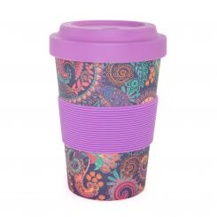 bodhi YogiCup 2 Go, bamboo cup, Paisley purple