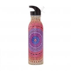 bodhi Edelstahl-Trinkflasche, 700 ml, bedruckt Mandala, bunt