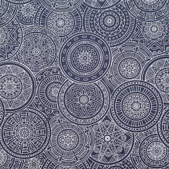 Pallet seat cushions, Maharaja Collection, 120 x 80 cm Mandala, dark blue