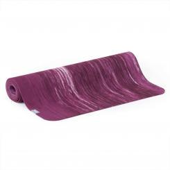 Tapis de yoga SAMURAI MARBLED, caoutchouc naturel aubergine