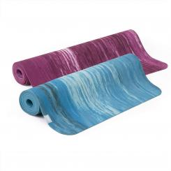 Natural rubber yoga mat SAMURAI MARBLED