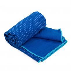 Yogatuch GRIP ² - Zweifarbig blau/aqua (neu)