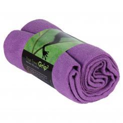Yogatuch GRIP ² Yoga Towel mit Antirutschnoppen lila