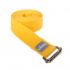 Yoga strap ASANA BELT with metal sliding buckle saffron orange
