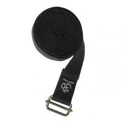 Yoga strap ASANA BELT PRO with metal buckle black