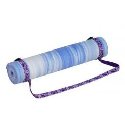 Yoga mat carrying strap purple