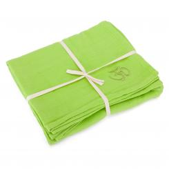 Yoga blanket SHAVASANA, cotton lime green