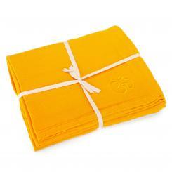 Yoga blanket SHAVASANA, cotton orange