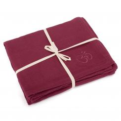 Yoga blanket SHAVASANA, cotton burgundy
