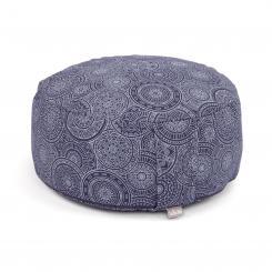 Maharaja Collection: RONDO meditation cushion | 32 x 20 cm Mandala, dark blue | spelt hull