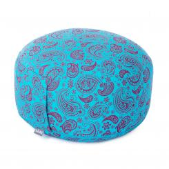 Limited Edition II: Paisley RONDO meditation cushion turquoise