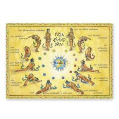 """Yoga carte postale """"Surya Namaskara"""""""