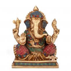 Ganesha Statue mehrfarbig, ca. 20 cm