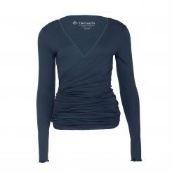 Yamadhi Wrap Jacket Viskose dunkelblau S
