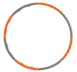 Cerceau Hula Hoop avec renfort en mousse orange-gris (1,5 kg)