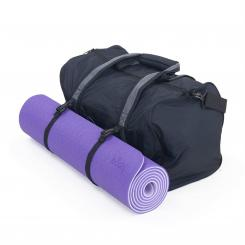 Aktions-Set: Yogamatte Lotus Pro + Yoga & Sports Bag Matte: lila / Bag: grau/hellgrau