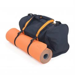 Kit promo : tapis Lotus Pro + sac Yoga & Sports Tapis orange/gris et sac noir/orange