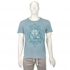 Bodhi Yoga Shirt Männer - GANESHA, vintage blue