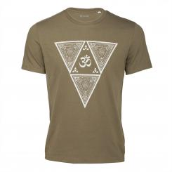 Bodhi Yoga Shirt - ETHNO TRIANGLE, khaki - UNISEX