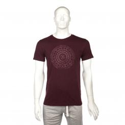 Bodhi Mens T-Shirt - ETHNO MANDALA, grape red