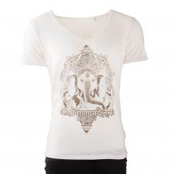 T-shirt homme BODHI - Ganesha, blanc cassé M