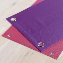Fabrication spéciale : poinçonnage de 2 oeillets métalliques pour tapis de yoga